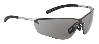 Bolle Silium Safety Cycling / Skiing Glasses - Metal Frame Shaded / Smoke Lens
