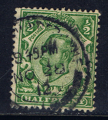 Great Britain #151(13) 1911 1/2 pence green George V Used CV$4.50