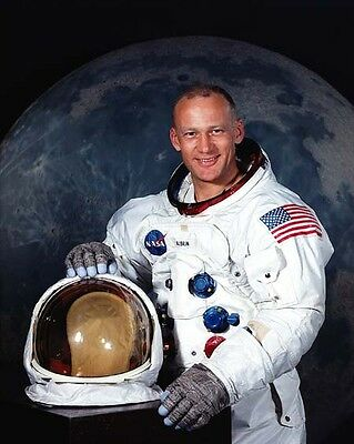 1969 Astronaut Apollo 11 BUZZ ALDRIN Glossy 8x10 Photo Space Poster Moon Print