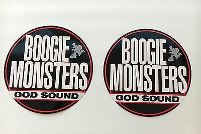 """Boogie Monsters """"god Sounds"""", Rare, Large, 90's Hip-Hop Promo Stickers !!"""