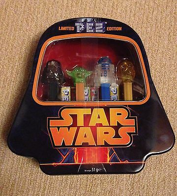 Star Wars PEZ Collectors Tin Limited Edition Yoda R2D2 C3PO Vader Xmas Gift NEW!