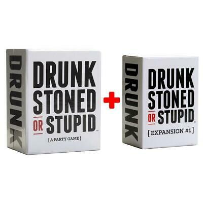 Drunk Stoned Or Stupid Main Set + #1 expansion Bundle Card Game