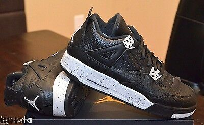 newest 8ebd8 09dbb Air Jordan 4 Iv Retro (Gs) Boys Basketball Shoes Black Tech Grey 408452-