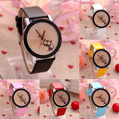 Hot Women Watch Cartoon Quartz Students Watches Girl Little Cat Hot Wristwatch