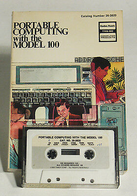 Vintage TRS80 model100 Book and Tape – Radio Shack Cat 26-3820