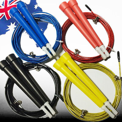 Steel Cable Jump Rope Skipping Skip Boxing Training Blue Black Yellow SJUMP49