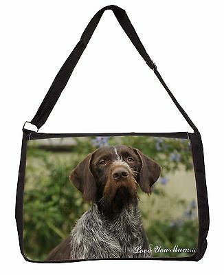 German Wirehaired Pointer 'Love You Mum' Large Black Laptop Should, AD-GWP1lymSB