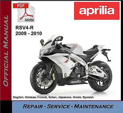 aprilia rsv4 r 2009 2010 rsv4r workshop service repair manual