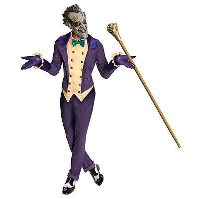 Adult The Joker Licensed Batman Deluxe Halloween Mens Fancy Dress Costume + Mask