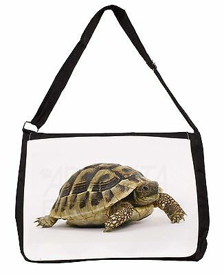 A Cute Tortoise Large Black Laptop Shoulder Bag School/College, AR-T16SB