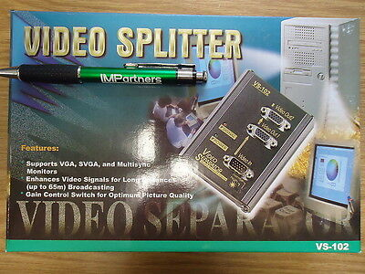 ATEN VS-102 2-Port Video Splitter. Brand New!
