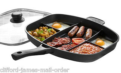 Cooks Professional Multi Section Master Frying Pan Non Stick Xylan Coating