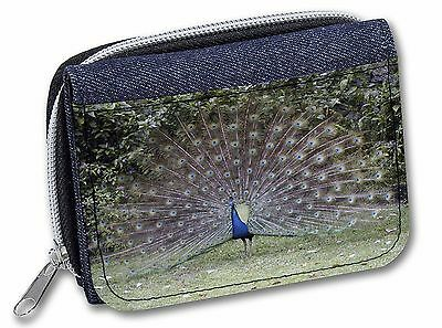 Colourful Peacock Girls/Ladies Denim Purse Wallet Christmas Gift Idea, AB-PE76JW