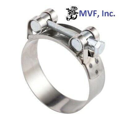 """ONE BOLT HOSE CLAMP T BOLT STAINLESS STEEL 32~35mm, 1-1/4""""~1-3/8"""" NEW HC308"""