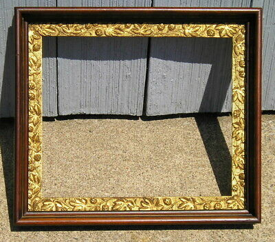 Antique Aesthetic Eastlake Victorian Berry~Gold Bronze~Gilt Picture Frame 10 x12