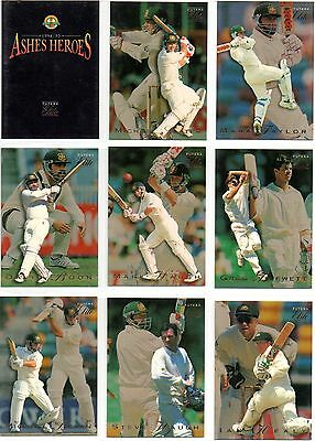 1994-95 Futera Ashes Heroes cricket cards - complete set of 60 with box