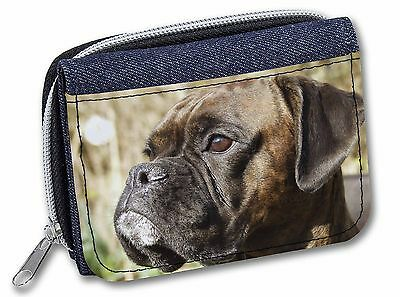Boxer Dog Puppies Girls//Ladies Denim Purse Wallet Christmas Gift Idea AD-B29JW
