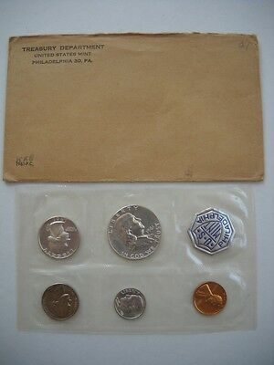 1961 P Silver Proof Coin Set United States Mint, In Original Envelope, Beautiful