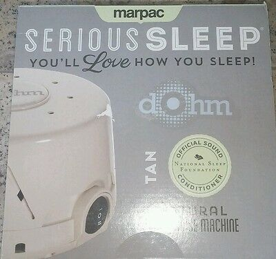 Marpac Dohm-DS Dual Speed Sound Conditioner White Noise - Tan / Fog