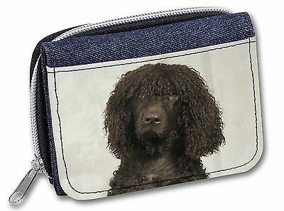 Irish Water Spaniel Dog Girls/Ladies Denim Purse Wallet Christmas Gift, AD-IWSJW
