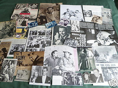 Glenn Ford - Film Star - Clippings /cuttings Pack