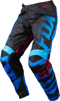 Fox Racing Womens Youth Girls Blue Red Black 180 Dirt Bike Pants MX ATV 2015