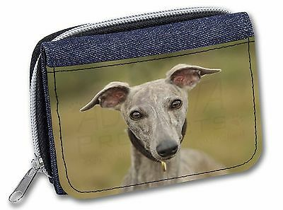 A Gorgeous Whippet Dog Girls/Ladies Denim Purse Wallet Christmas Gift, AD-WH92JW