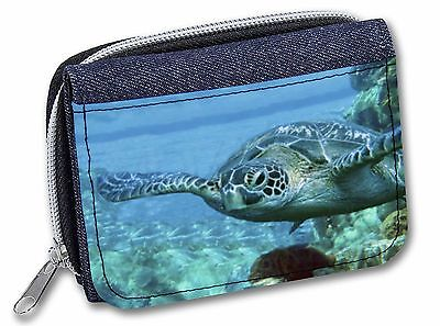 Turtle by Coral Girls/Ladies Denim Purse Wallet Christmas Gift Idea, AF-T20JW