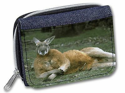Cheeky Kangaroo Girls/Ladies Denim Purse Wallet Christmas Gift Idea, AK-1JW