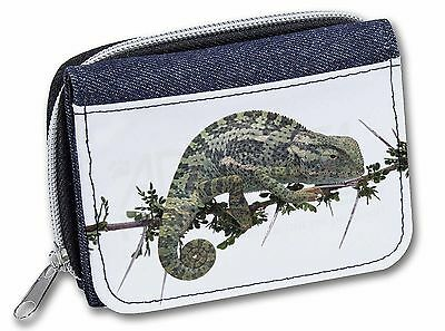 Chameleon Lizard Girls/Ladies Denim Purse Wallet Christmas Gift Idea, AR-L5JW