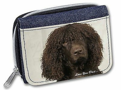 Irish Water Spaniel 'Love You Dad' Girls/Ladies Denim Purse Wallet Chr, DAD-59JW