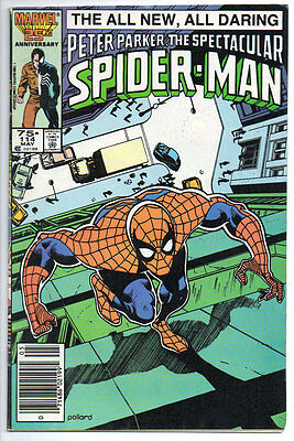 Marvel Comics PETER PARKER SPECTACULAR SPIDER-MAN 1986 #114 B&B FN