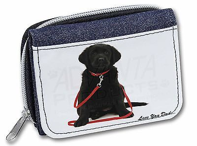 Goldador Dog 'Love You Dad' Girls/Ladies Denim Purse Wallet Christmas , DAD-69JW