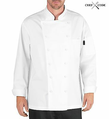 Chef Code Lorenzo Executive Chef Coat with Cloth Covered Buttons CC101