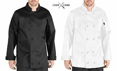 CHEF CODE Executive Chef Coat 100% Cotton with 10 Buttons, Chef Uniform  CC119