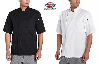 3 PACK Dickies Chef Donatello Short Sleeve Coat 8 button Chef Jacket DC124