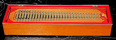 Vintage Antique Thomas 40 Orchestra Electronic Bells Xylophone & Wooden Case