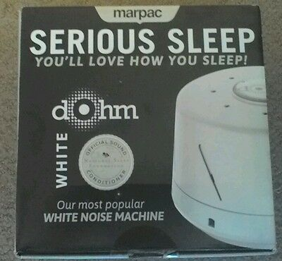 Marpac Dohm-DS Dual Speed Sound Conditioner White Noise - White *New Open Box*