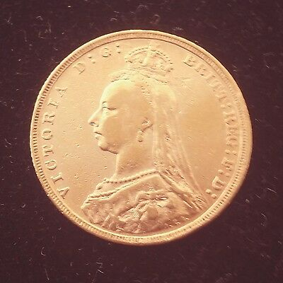 Great Britain Sovereign Victoria Jubilee Head 916/1000 22K Gold Coin Random Year