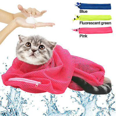 No Scratching Mesh Cat Grooming Bathing Bag Restraint Nail Trimming Injecting