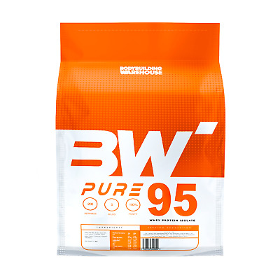 PURE WHEY PROTEIN ISOLATE - 95% PROTEIN! - No Filler, Very Low Carb, Low Sugar!