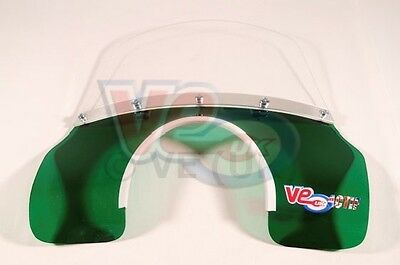 Transparent Green & Clear Flyscreen - Lambretta Li 125 150  Series 3