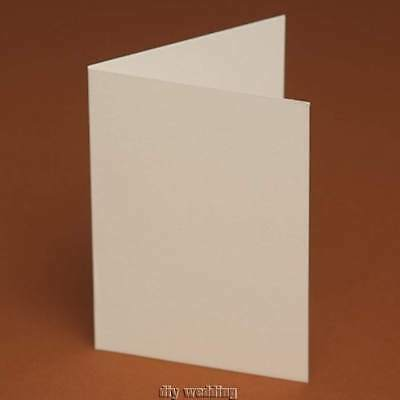 60 A5 Blank Cards Ivory/ White/ Linen/ Hammer/Smooth Greeting ,wedding invites