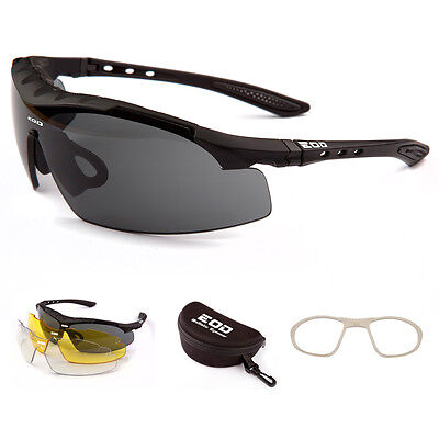 EOD iWear Stealth Ballistic Safety Military Airsoft Tactical Glasses 3 Lens Kit
