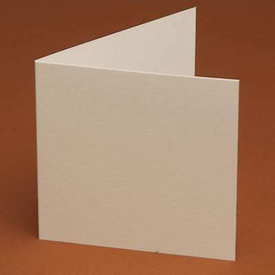 10 Small Square cards 105mm x 105mm (ivory, white, cream, smooth, linen, hammer)