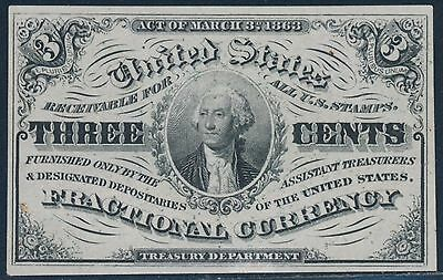 Fr1226 3¢ 3Rd Issue Light Background To Portrait F.c. Very Choice Cu Bt698
