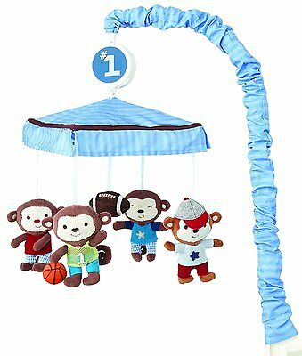 Summer Infant 66220 Team Monkey Mobile Attaches To Most Standard Sized Cribs New