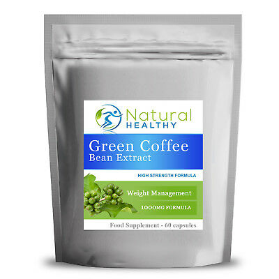 1000 Green Coffee Bean Extract Capsules - Gcb 1000Mg Caffeine Fat Burner Strong