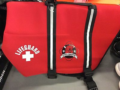 Paws Aboard Neoprene Doggy Life Jacket x-Large-Red