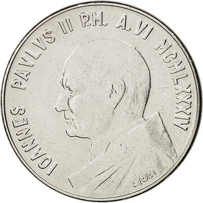 [#410410] VATICAN CITY, John Paul II, 50 Lire, 1984, Roma, Stainless Steel,...